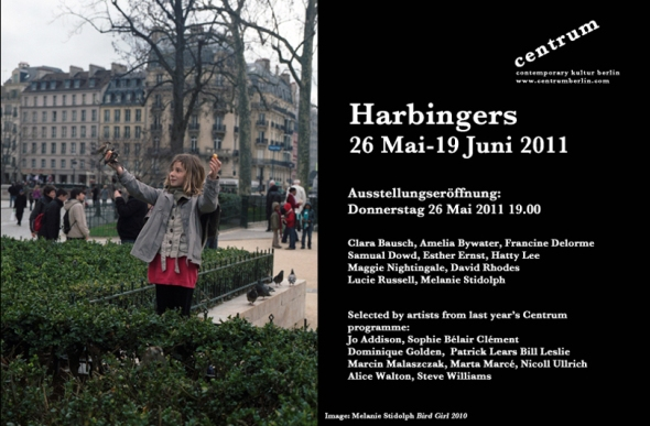 Invitation for Harbingers exhibition